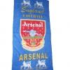 ผ้าขนหนู ผ้าเช็ดตัว ลายทีมฟุตบอล Arsenal สีน้ำเงิน 5 ฟุต