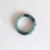 RJ55(20) แหวนหยกพม่าแท้ไซท์เล็กพิเศษ ไซท์ 55 USA7 นื้อสวยเกรดส่งออกสีธรรมชาติ 100 %