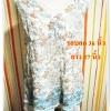 Used เสื้อแฟชั่น ผ้าชีฟอง ลายดอกไม้ ตกแต่งด้วยลูกไม้ สุดเก๋ เนื้อผ้า 2 ชั้น ตัวใหญ่ใส่สบาย รอบอก 36 นิ้ว no u002