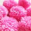 ปอมปอมไหมพรมสีชมพูหวาน ขนาด 2 นิ้ว pompoms crochet