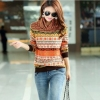 เสื้อกันหนาว แบบสวม เสื้อกันหนาวผู้หญิง สามารถใส่แทน เสื้อยืด ได้เลย เสื้อกันหนาว แบบปิดคอ ผ้า Cashmere ทอแน่น ผ้านุ่ม โทนส้มน้ำตาล 769016
