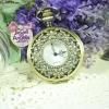 นาฬิกาพก,นาฬิกาสร้อยคอสไตล์โบราณ หน้าปัดฉลุลายดอกไม้