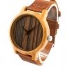 นาฬิกาข้อมือ ผู้ชาย ผู้หญิง ใส่ได้ นาฬิกา งานไม้ งานแฮนด์เมด ทำจากไม้ไผ่ ผสมผสานกับ สายหนังแท้ หน้าปัดกลม สไตล์วินเทจ สุดคลาสสิค 973772