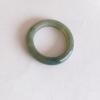 RJ55(8)b แหวนหยกพม่าแท้ไซท์เล็กพิเศษ ไซท์ 55 USA7 นื้อสวยเกรดส่งออกสีธรรมชาติ 100 %