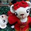 ตุ๊กตาหมีคู่รัก 8 นิ้ว : Wedding dolls [Chinese] (สั่งทำ)
