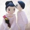 ตุ๊กตาแต่งงาน wedding dolls amigurumi crochet