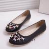 รองเท้าหุ้มส้นผู้หญิง รองเท้าผู้หญิง ส้นแบน หนัง pu ตกแต่งดอกไม้ เพิ่มสีสัน ที่หน้าเท้า รองเท้าหุ้มส้นใส่สบาย สีดำ 52486_1