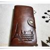 กระเป๋าสตางค์ levis สีน้ำตาลเข้มใบยาว L007