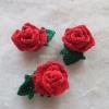 กุหลาบจิ๋วถักด้ายวีนัส mini rose crochet