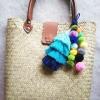 กระเป๋ากระจูดสาน แถมที่แขวนกระเป๋า ขนาด 12*4*18 นิ้ว basket weave bags