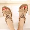 รองเท้าส้นแบน รองเท้าแฟชั่น ผู้หญิง รองเท้าหนัง แบบรัดส้น ดีไซน์เปิดหน้าเท้า สีน้ำตาล ลายดอกไม้ รองเท้าแตะ แฟชั่น ดีไซน์ 625129_1