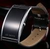 นาฬิกาข้อมือ สายหนังแท้ หน้าจอ Led สีดำ มาดเข้ม นาฬิกาข้อมือผู้ชาย ผู้หญิงใส่ได้ no 8114691