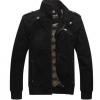 เสื้อ แจ็คเก็ต ผู้ชายแขนยาว ผ้ายีนส์ คอตต้อน ผสม Polyester ผ้า 2 ชั้นอย่างดี ออกแบบสวยงาม คอตั้ง ปิดคอ Jacket สีดำ แขนยาว ใส่เที่ยว เท่ ๆ 224503_1