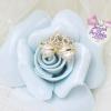 ต่างหู,ตุ้มหูแฟชั่นสไตล์เกาหลีรูปมงกุฎสีทองแต่งเพชรคริสตัล