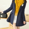 M รุ่นที่ 1 | LADY DARK BLUE WOOLEN COAT