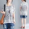 JY25869#เสื้อOversizeสไตล์เกาหลี เสื้อโอเวอร์ไซส์แต่งลายแนวๆ อก*100ซม.ขึ้นไปประมาณ40-42นิ้วขึ้น