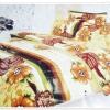 5 ฟุต 3 ชิ้น ชุดเครื่องนอน ผ้าปูที่นอน ลายดอกไม้ P004
