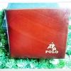 กระเป๋าสตางค์ Polo ใบสั้น สีน้ำตาลลายไม้ หนังแท้ ช่องใส่บัตร ได้เยอะ กระเป๋าสตางค์ผู้ชาย ของขวัญ ให้แฟน สุดหรู p1014