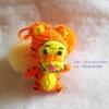 ที่ห้อยกระเป๋า พวงกุญแจตุ๊กตา เสือทิกเกอร์ tigger dolls pom pom amigurumi crochet keychain