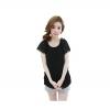 Best N Eve เสื้อสั้น ผ้าชีฟอง รุ่น Y-28B2 - Black with Pearl Sleeves