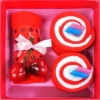 เค้กโรลผ้าขนหนู เซอร์ไพร์สวันพิเศษ (วันเกิด,วันวาเลนไทน์,วันแห่งความรัก) สีแดง
