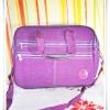 กระเป๋าถือ กระเป๋าสะพายข้าง ใส่ Notebook สีม่วงสด