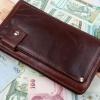 กระเป๋าสตางค์ผู้ชาย กระเป๋าถือ ขนาดกลาง หนังแท้ ใช้งานทนทาน พิเศษ สำหรับ คนชอบพกบัตร มีแถบใส่บัตร แยก 1 แผ่น กระเป๋าสตางค์ คลัช มีที่สอดมือ 81997