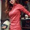 เสื้อคอปก สีแดง