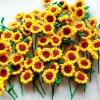 ทานตะวันถักโครเชต์ sunflowers crochet
