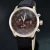 นาฬิกาข้อมือ ผู้ชาย สายหนังแท้ สีดำ หน้าปัด คลาสสิค สีน้ำตาล ดู ภูมิฐาน มีสไตล์ มาดเฉียบ ผู้ดี สุด ๆ 19477_1