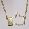 stock 2 สร้อยคอLike Facebook สีGold