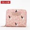 กระเป๋าสตางค์ สีชมพูอ่อน-Axixi