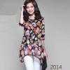 เสื้อผ้า ชีฟอง สไตล์คุณนาย ลายดอกไม้ โทนสีแดงดำ เสื้อแฟชั่น แบบผู้ใหญ่ สวยเก๋ ไฮโซ สุด ๆ แฟชั่น ดาราเกาหลี no 437226_1