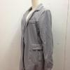 M: เสื้อโค้ทกันหนาว สไตล์เกาหลี ทรงสวย Classic ผ้าสำลีเนื้อเบา บุซับในกันลม สีเทา พร้อมส่ง