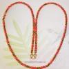 (ขายหน้าร้านแล้วค่ะ) M012 สร้อยคอ คริสตัลโมดาร์ สีแดงสลับทอง