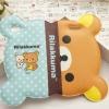 เคส iphone 6 6 plus เคสลายการ์ตูนดัง รีแลคคุมะ จากญี่ปุ่น รูปหน้า พับครึ่งได้ กางออกเป็นหน้าเต็ม หนัง pu กันน้ำ สีฟ้าลายจุด ผสม น้ำตาล 108123_4