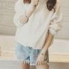 สีขาว : เสื้อคลุมกันลม คอตั้ง ผ้าโพลิ สีน่ารัก ใส่ออกกำลังกายน่ารักมากๆ