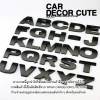 สติกเกอร์โลโก้ตัวอักษรโลหะ 3D - (สีดำ) ตัวหนังสือตกแต่งรถยนต์ A-Z