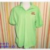 เสื้อโปโล เสื้อคอปก สีเขียว รอบอก 40 นิ้ว