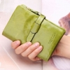 กระเป๋าสตางค์ผู้หญิง ใบสั้น กระเป๋าสตางค์ หนังวัวแท้ ลง Oil wax ใช้ยิ่งนาน ยิ่งสวย มีช่องใส่บัตร มีช่องใส่เหรียญ สีเขียวอ่อน 764078_5