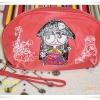 กระเป๋าใส่ของ กระเป๋าใส่เครื่องสำอางค์ Marc By Marc Jacob สีโอรส ใบกลาง