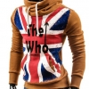 เสื้อ แจ็คเก็ต ผู้ชายแขนยาว แบบสวม เสื้อหมวก มีฮู้ด สีน้ำตาล อมส้ม เพ้นท์ลาย The Who เสื้อใส่กันหนาว ลายธงชาติอังกฤษ แฟชั่นอังกฤษ 949493_3