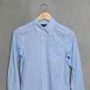 เสื้อเชิ้ตลายตารางสีฟ้า แบรนด์ Archives