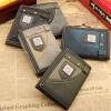 กระเป๋าสตางค์ผู้ชาย กระเป๋าสตางค์ วัยรุ่น กระเป๋าสตางค์ผ้ายีนส์ ผสมหนัง ดูดี สวยเท่ มีสไตล์ กระเป๋าสตางค์สไตล์ วัยรุ่น อังกฤษ 3 พับ 638750