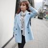 M : CLASSIC LIGHT BLUE COAT ผ้าวูลเนื้อหนานุ่ม บุซับใน [ เสื้อโค้ท กันหนาว สีฟ้าอ่อน ] พร้อมส่ง