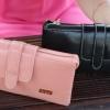 กระเป๋าสตางค์ ใบยาว ผู้หญิง กระเป๋าสตางค์ หนังมัน ลง Oil wax แบบซิป คู่ ยิ่งใช้ ยิ่งสวย กระเป๋าสตางค์ผู้หญิง หวาน ๆ สีพื้น ใส่โทรศัพท์ได้ น่าใช้ 501798