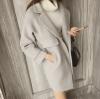 สีเทาอ่อน M : เสื้อโค้ทกันหนาว ทรงสวย
