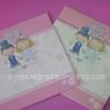 CG014 การ์ดแต่งงานสี่เหลี่ยมสามพับ (มี 2สี ให้เลือก)