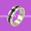 แหวนแม่เหล็ก  สีขาว คาด ดำ  20 mm (PK ring)