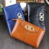 กระเป๋าสตางค์ผู้หญิง ใบสั้น กระเป๋าสตางค์ หนัง ลง Oil wax สีสวย ใส่บัตรได้หลายช่อง มีช่องซิป แยกใส่เหรียญ สีพื้น น้ำตาล น้ำเงิน ดำ 647132